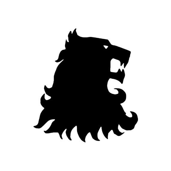 House Lannister lion head, Game of Thrones  - Die Cut Vinyl Sticker Decal
