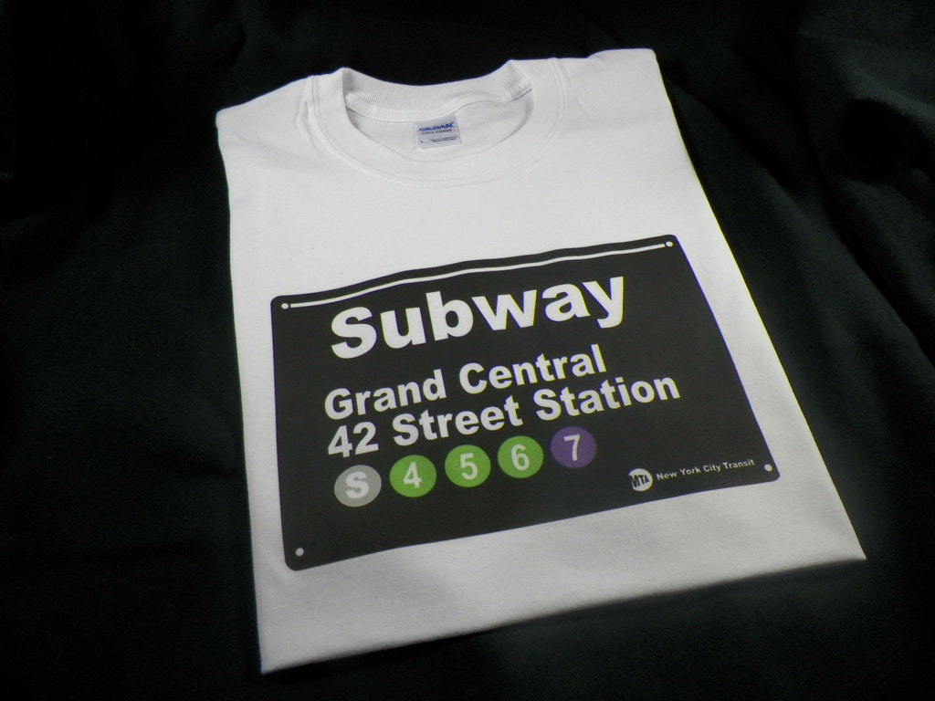NYC Subway Sign Grand Central Station 42 Street Station T-shirt