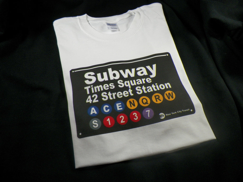 NYC Subway Sign Times Square Station 42 Street Station T-shirt