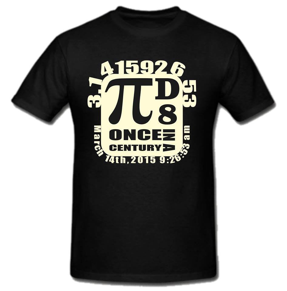 Pi Day π March 14 2015 Once In A Century T-shirt | Blasted Rat