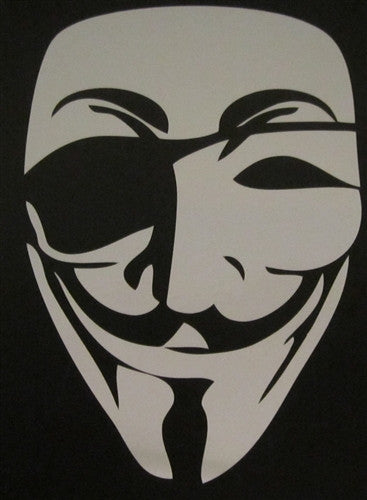 Anonymous Pirate Eye Guy Fawkes Mask | Die Cut Vinyl Sticker Decal | Blasted Rat