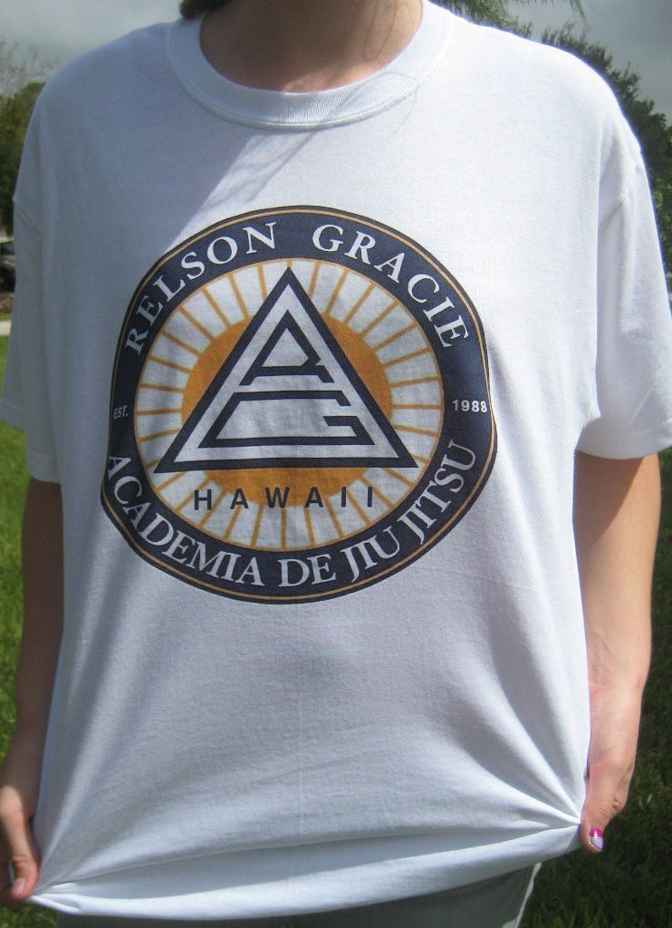 Relson Gracie Jiu Jitsu Academy Hawaii Pride FC Fighting UFC MMA T-shirt