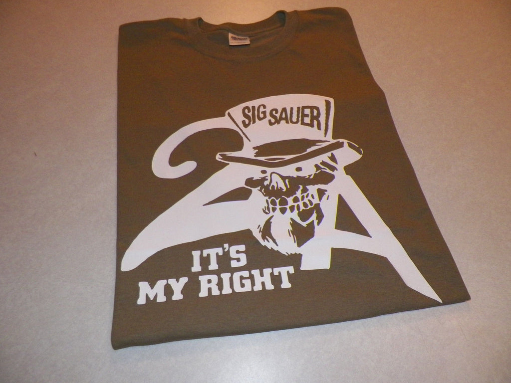 Sig Sauer 2nd Amendment Gun Rights Pistol Gun T-shirt