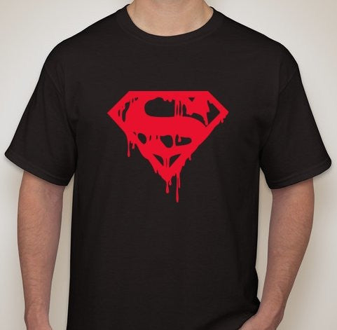 Superman Death Of Bleeding Logo T-shirt | Blasted Rat