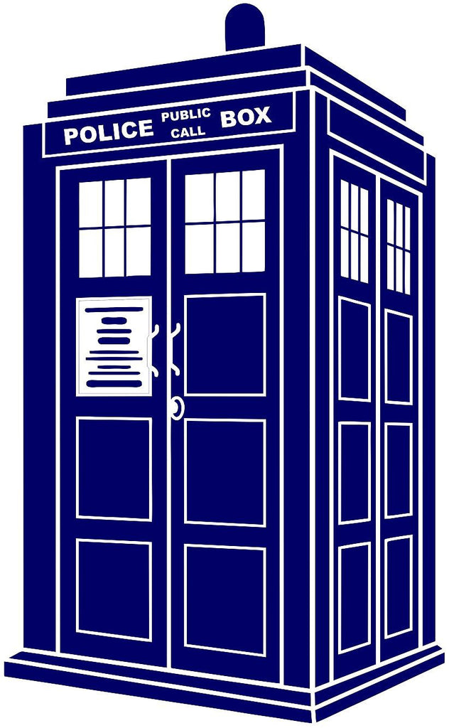 Doctor Who Tardis Police Call Box | Die Cut Vinyl Sticker Decal | Blasted Rat