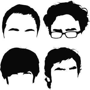 The Big Bang Theory Characters Outlines  - Die Cut Vinyl Sticker Decal
