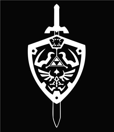 The Legend of Zelda Hyrule Shield | Die Cut Vinyl Sticker Decal | Blasted Rat