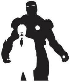 Iron Man Tony Stark | Die Cut Vinyl Sticker Decal | Blasted Rat