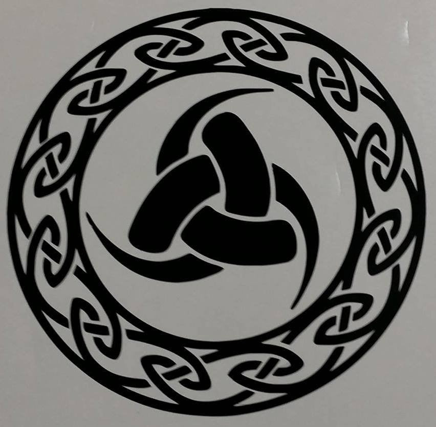 Triple Horn Of Odin Viking Rune Celtic Endless Know | Die Cut Vinyl Sticker Decal