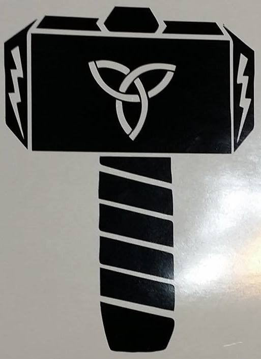 Triquetra Rune Viking Thor Hammer | Die Cut Vinyl Sticker Decal