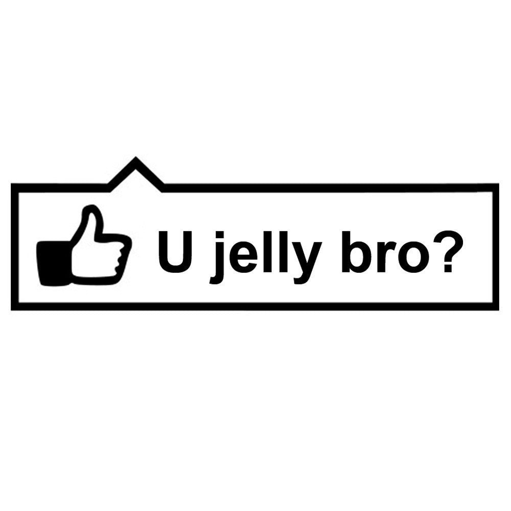 U Jelly Bro? Like JDM Racing | Die Cut Vinyl Sticker Decal | Blasted Rat