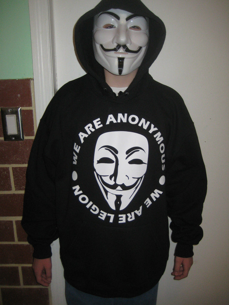 We Are Anonymous - We Are Legion with Guy Fawkes Mask Hoodie