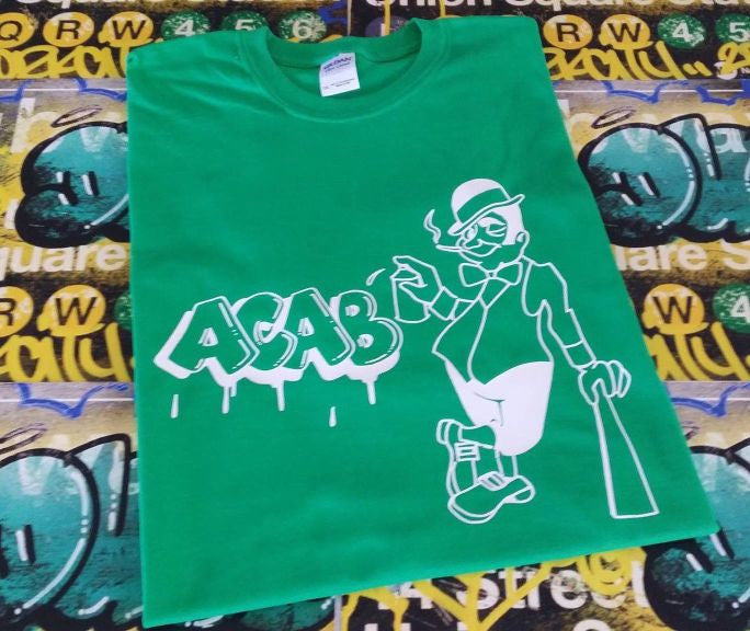 ACAB Irish Hooligan Graffiti T-shirt | Blasted Rat