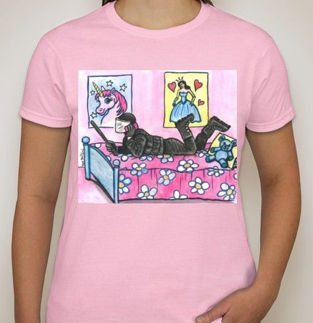 ACAB Riot Police Princess Women T-shirt | Dan Bellini Occupy Art | Blasted Rat