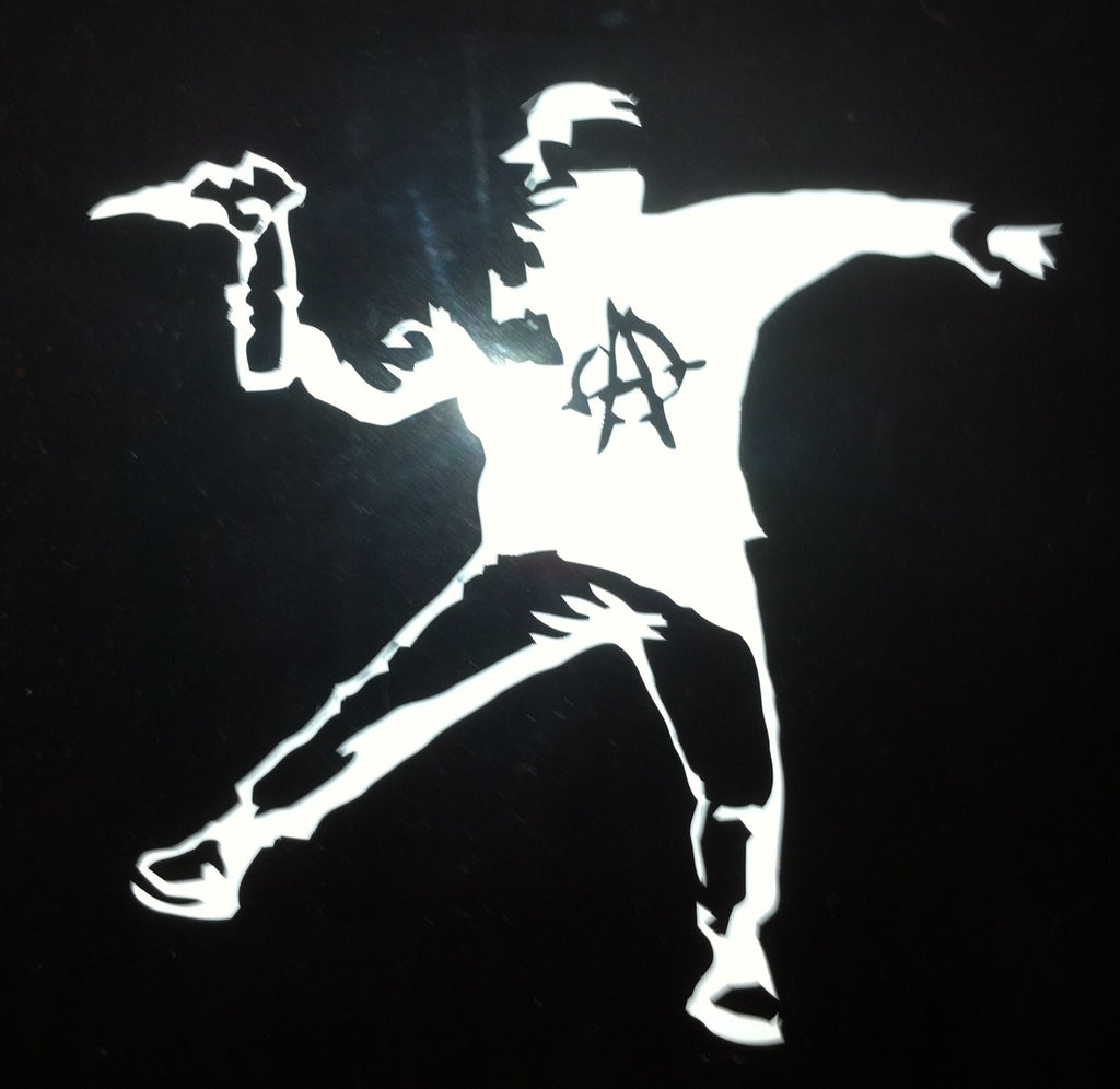 A.C.A.B. Molotov Cocktail Die Cut Vinyl Sticker Decal