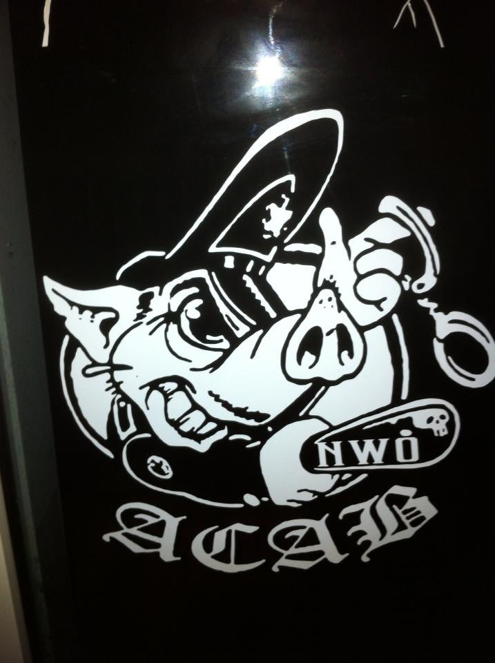 A.C.A.B. Pig NWO - Die Cut Vinyl Sticker Decal