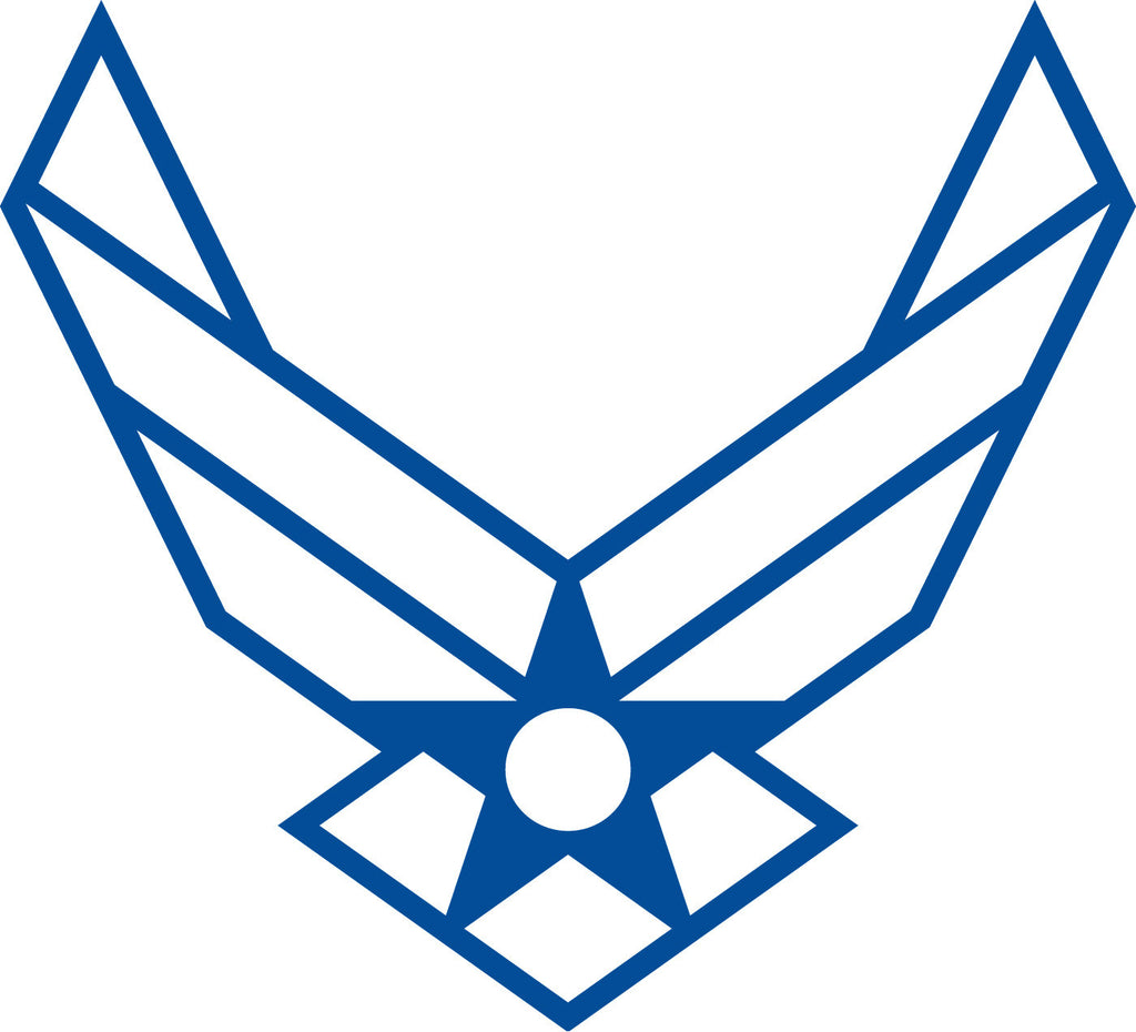 Air Force symbol - Die Cut Vinyl Sticker Decal