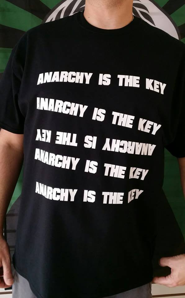 Anarchy Is The Key T-shirt | Blasted Rat