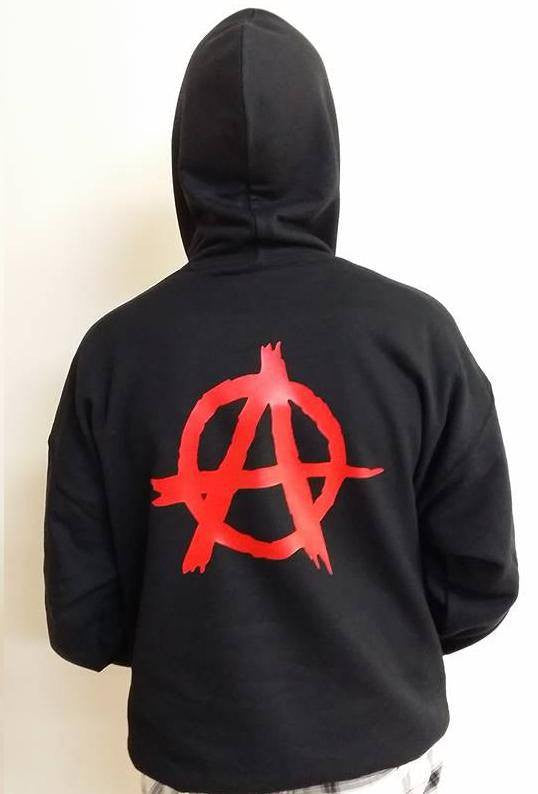 Anarchy Symbol Red Art Hoodie