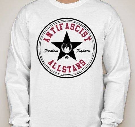 Anonymous Antifascist Antifa Allstars Long Sleeve T-shirt | Blasted Rat