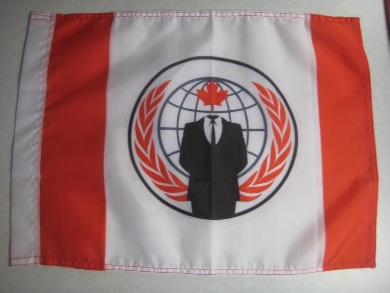 Anonymous Canada Hand Flag
