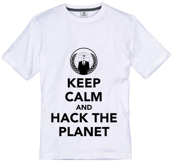 Anonymous Keep Calm & Hack the Planet T-shirt | Blasted Rat