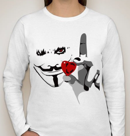 Anonymous Love Women Long Sleeve T-shirt | Blasted Rat