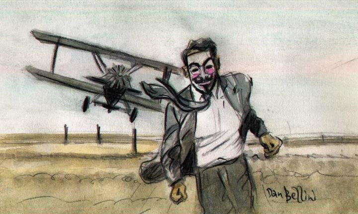 Anonymous North by Northwest  | Dan Bellini Occupy Art Print | Blasted Rat