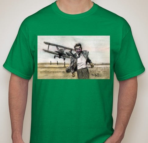 Anonymous North by Northwest T-shirt | Dan Bellini Occupy Art | Blasted Rat