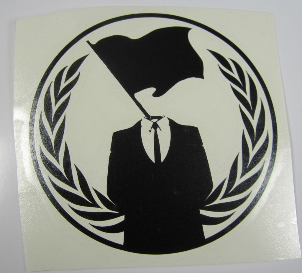 Anonymous Crest Anarchy Flag | Die Cut Vinyl Sticker Decal | Blasted Rat