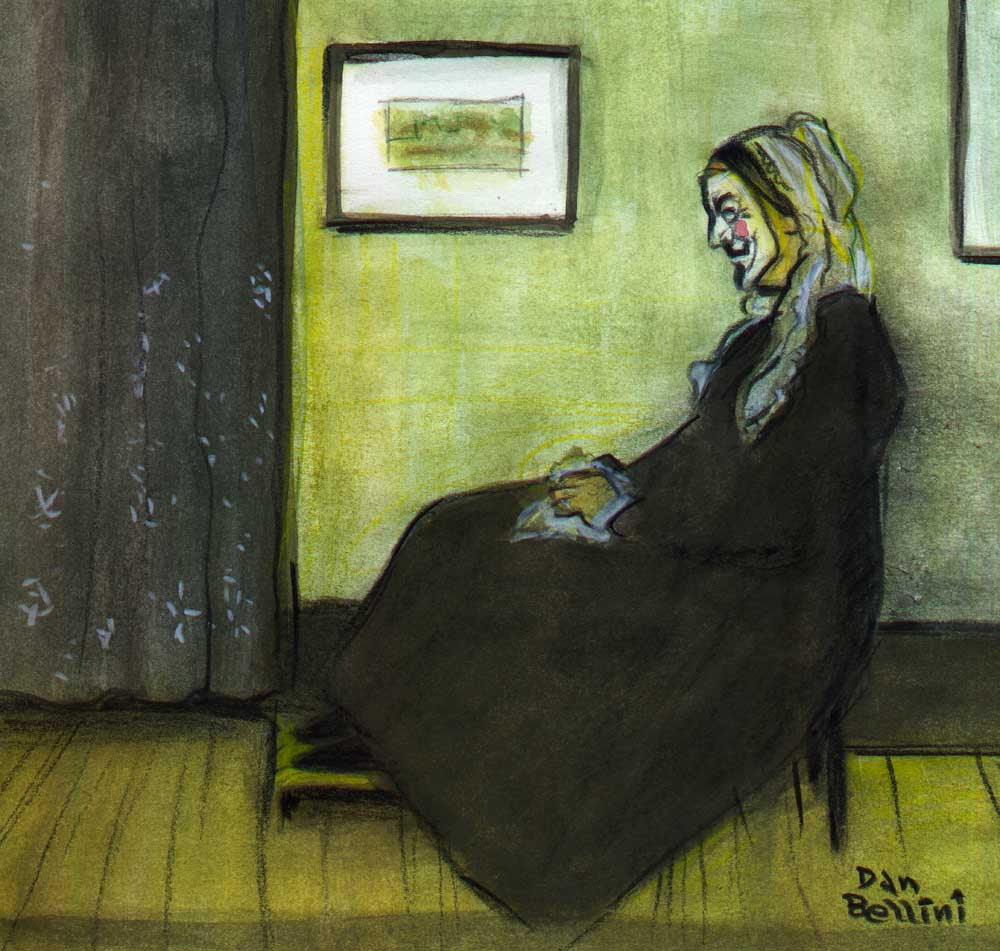 Anonymous Whistler's Mother  | Dan Bellini Occupy Art Print | Blasted Rat