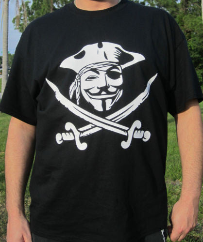 Anonymous Pirate with Guy Fawkes Mask T-shirt