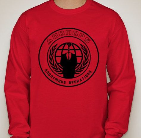 Anonymous Anonops Crest Long Sleeve T-shirt
