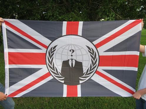 Anonymous United Kingdom Large Flag 5x3 feet