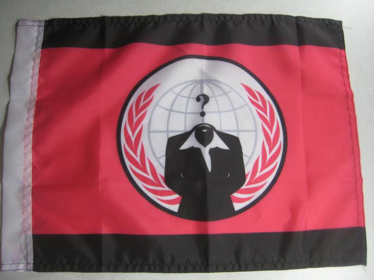 Anonymiss Anonymous Hand Flag