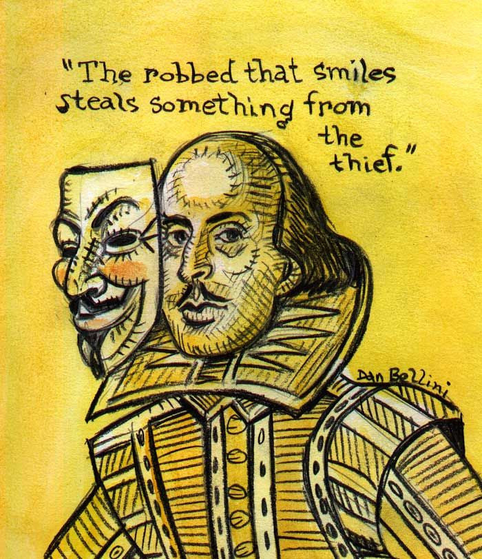 Anonymous Shakespeare | Dan Bellini Occupy Art Print | Blasted Rat