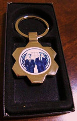 Anonymous And Anonymiss Keychain