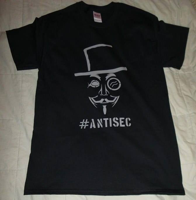 Anonymous #AntiSec Sir T-Shirt