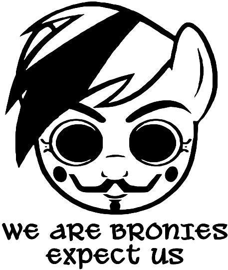 Anonymous Brony My Little Pony Expect Us | Die Cut Vinyl Sticker Decal