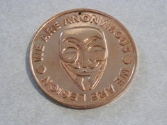 Anonymous Coins | heavy solid, plated w different tones | Blasted Rat