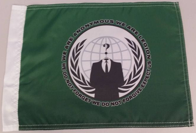 "Anonymous Crest Credo 15x12"" Mini Flag"