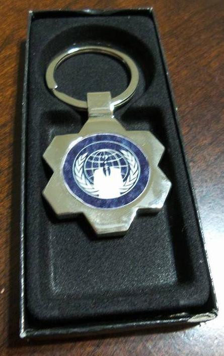 Anonymous Crest Keychain