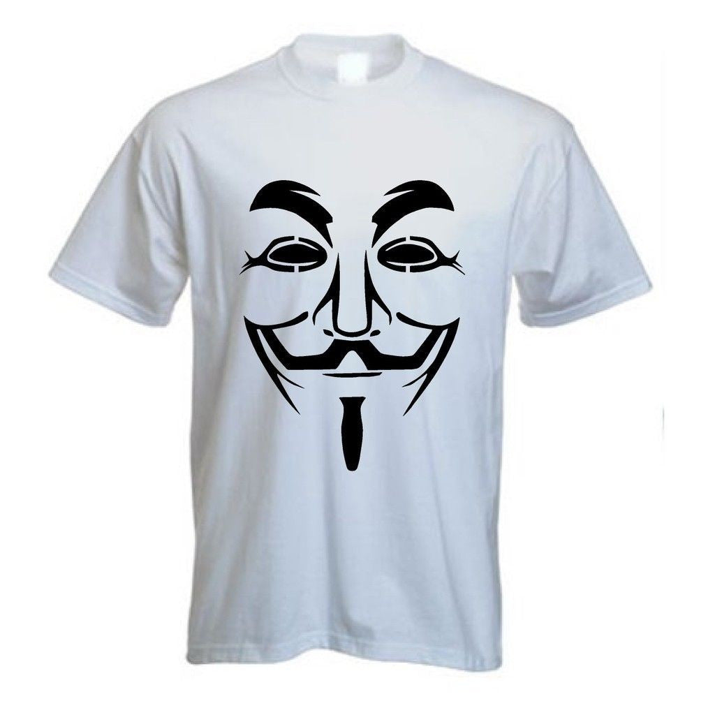 Anonymous Guy Fawkes T-shirt in Black Print
