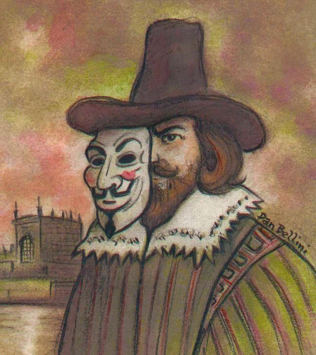 Anonymous Guy Fawkes | Dan Bellini Occupy Art Print | Blasted Rat