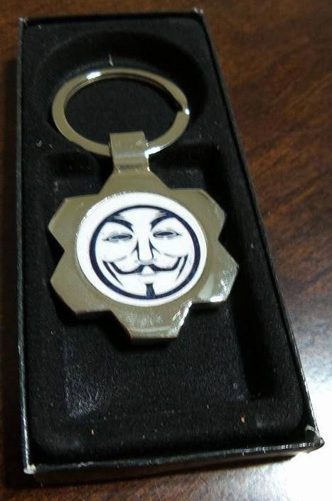 Anonymous Guy Fawkes Keychain
