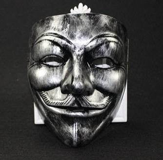 Anonymous Antique Silver Color Guy Fawkes Mask