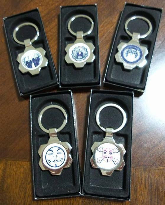 Anonymous Keychain Lot Of 5
