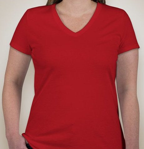 Anonymous Ladies V-Neck T-shirt With Any Design From The Shop True Red