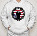 Anonymous Crest with Upside Down USA Flag Hoodie