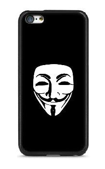 Anonymous Mask | Mobile Phone Decal | Die Cut Vinyl Sticker | Blasted Rat